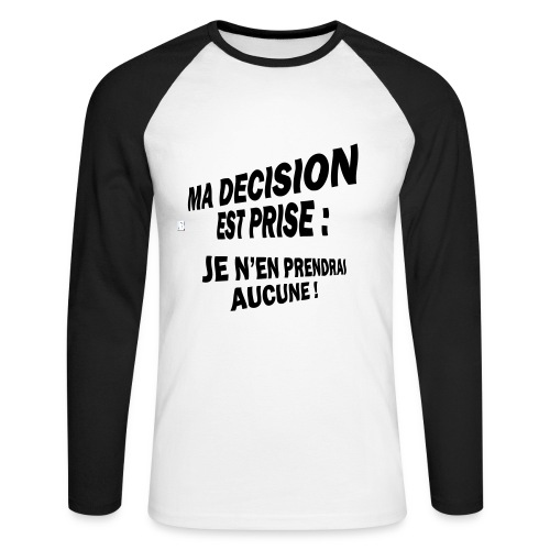 Decision - T-shirt baseball manches longues Homme