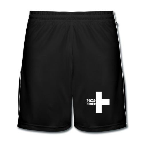 Poz&Proud sport shorts - wit logo - Mannen voetbal shorts