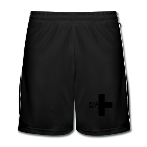 Poz&Proud sport shorts - zwart logo - Mannen voetbal shorts