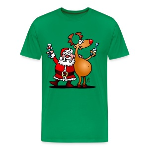 Santa Claus and his Reindeer - Men's Premium T-Shirt