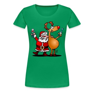 Santa Claus and his Reindeer - Women's Premium T-Shirt