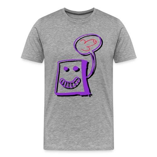 Herzkiste mit Pimmel - Männer Premium T-Shirt