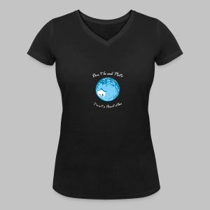T-shirt Femme (woman) Sad Pluto - Women's Organic V-Neck T-Shirt by Stanley & Stella