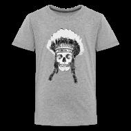 Koszulki ~ Koszulka młodzieżowa Premium ~ skull indian headdress - czaszka