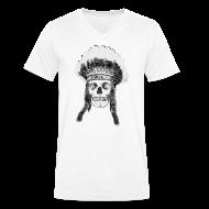 Koszulki ~ Koszulka męska Canvas z dekoltem w serek ~ skull indian headdress - czaszka