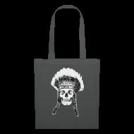 Torby i plecaki ~ Torba materiałowa ~ skull indian headdress - czaszka