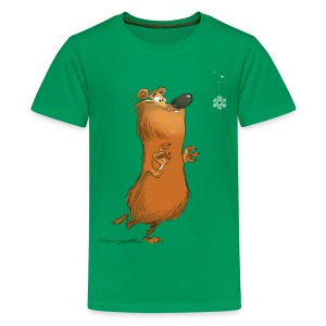 Teenager T-Shirt Naturschneebär - Teenager Premium T-Shirt