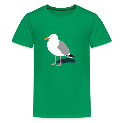 tier t-shirt möwe möwen sea gull seagull hafen beach harbour - Teenager Premium T-Shirt