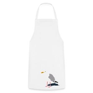 tier t-shirt möwe möwen sea gull seagull hafen beach harbour - Kochschürze