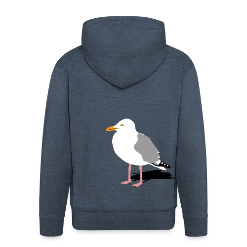 tier t-shirt möwe möwen sea gull seagull hafen beach harbour - Männer Premium Kapuzenjacke