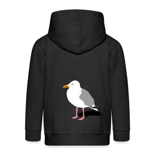 tier t-shirt möwe möwen sea gull seagull hafen beach harbour - Kinder Premium Kapuzenjacke