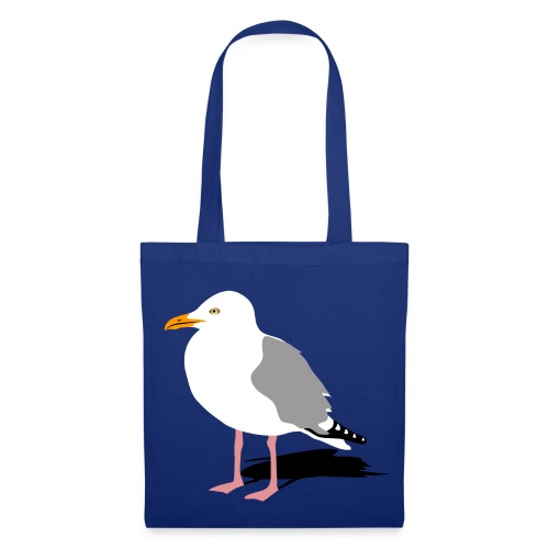 tier t-shirt möwe möwen sea gull seagull hafen beach harbour - Stoffbeutel