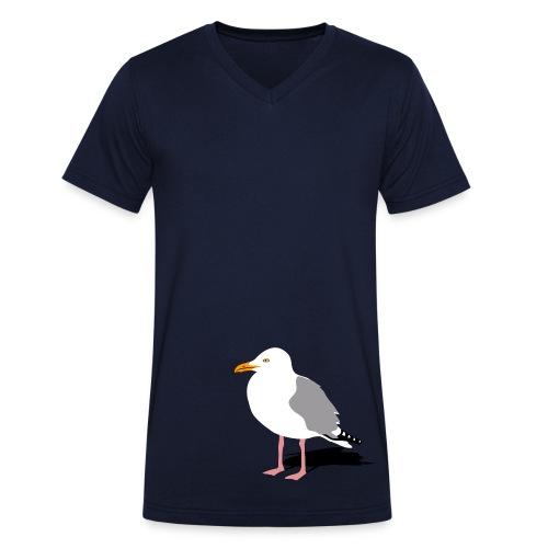 tier t-shirt möwe möwen sea gull seagull hafen beach harbour - Männer Bio-T-Shirt mit V-Ausschnitt von Stanley & Stella