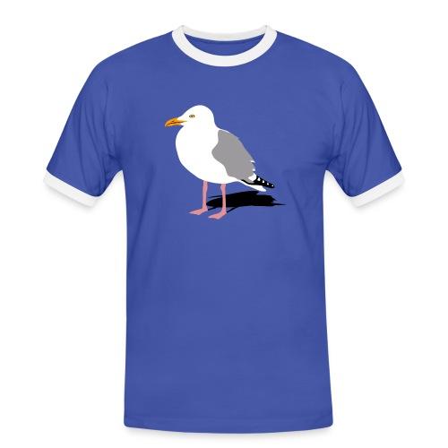 tier t-shirt möwe möwen sea gull seagull hafen beach harbour - Männer Kontrast-T-Shirt