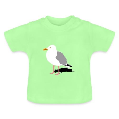 tier t-shirt möwe möwen sea gull seagull hafen beach harbour - Baby T-Shirt