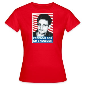 FREEDOM FOR EDWARD SNOWDEN ED Frauen t-shirt - Frauen T-Shirt