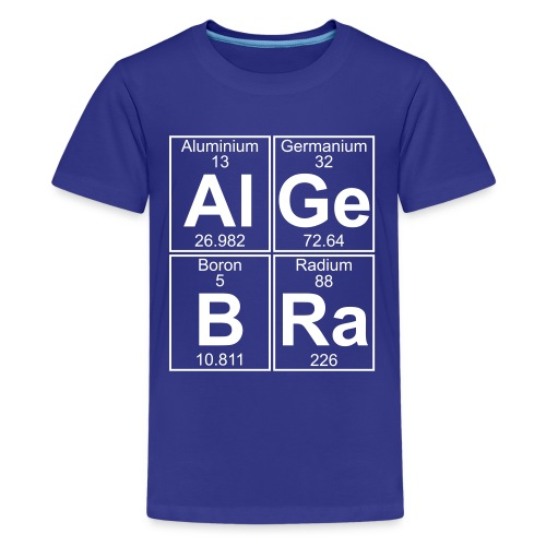 Al-Ge-B-Ra (algebra) - Full - Teenage Premium T-Shirt