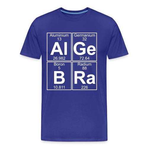 Al-Ge-B-Ra (algebra) - Full - Men's Premium T-Shirt