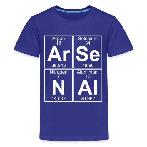 Ar-Se-N-Al () - Full - Teenage Premium T-Shirt