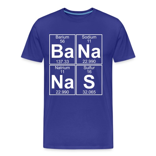 Ba-Na-Na-S (bananas) - Full - Men's Premium T-Shirt