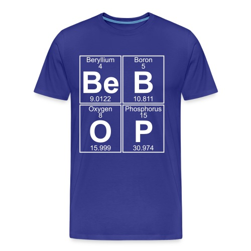 Be-B-O-P (bebop) - Full - Men's Premium T-Shirt