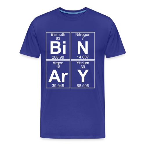 Bi-N-Ar-Y (binary) - Full - Men's Premium T-Shirt