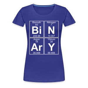Bi-N-Ar-Y (binary) - Full - Women's Premium T-Shirt