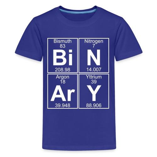 Bi-N-Ar-Y (binary) - Full - Teenage Premium T-Shirt