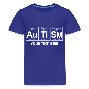 Au-Ti-Sm (autism) - Full - Teenage Premium T-Shirt