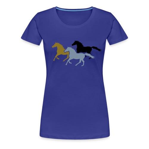 Galloping Horses T-Shirt - Women's Premium T-Shirt