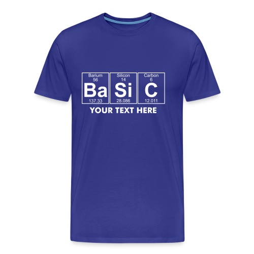 Ba-Si-C (basic) - Full - Men's Premium T-Shirt