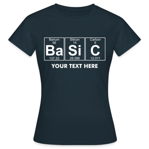 Ba-Si-C (basic) - Full - Women's T-Shirt