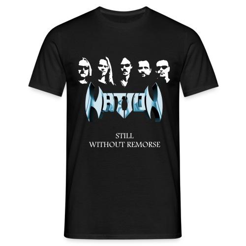 T-shirt, men, round neck, in black only - T-shirt herr