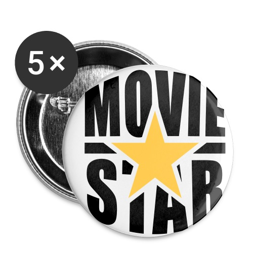 THE MOVIESTARS - Buttons mittel 32 mm