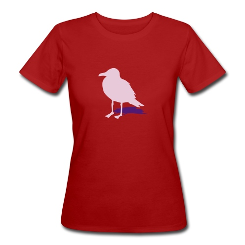 tier t-shirt möwe möwen sea gull seagull hafen beach harbour - Frauen Bio-T-Shirt
