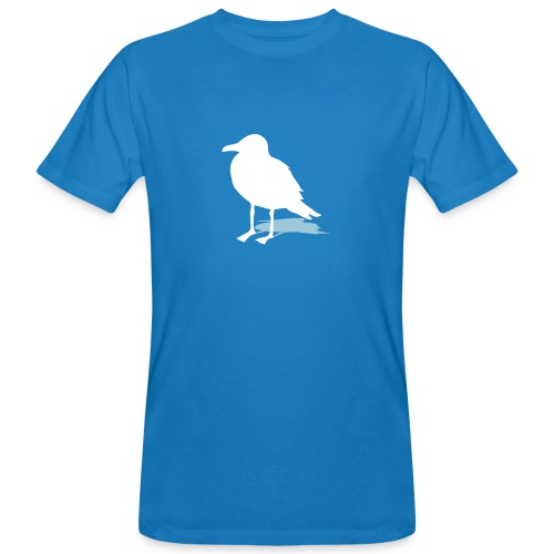 tier t-shirt möwe möwen sea gull seagull hafen beach harbour - Männer Bio-T-Shirt