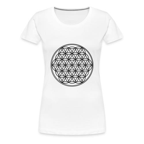 Frauen Premium T-Shirt - Blume des Lebens
