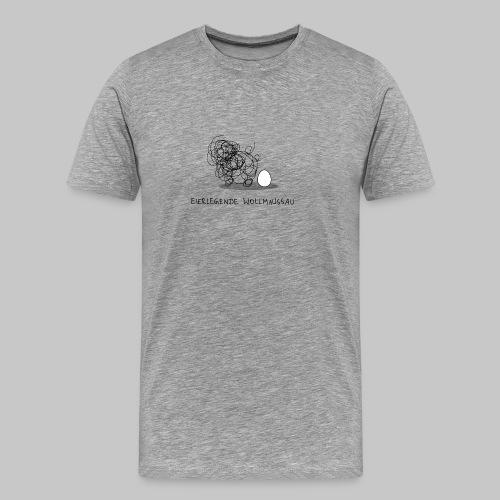 Wollmaussau (dunkle Schrift) - Männer Premium T-Shirt