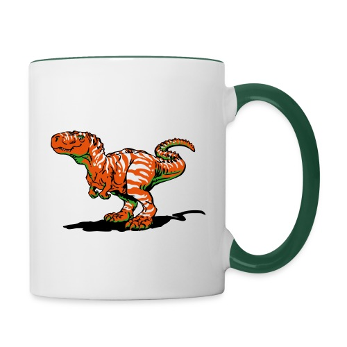 Tyrannosaurus Kinder Tasse - Tasse zweifarbig
