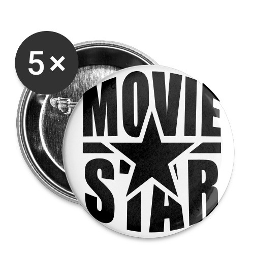 THE MOVIESTARS - Buttons groß 56 mm