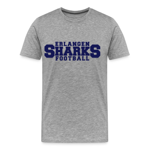 New Old School Football Shirt (grau) - Männer Premium T-Shirt