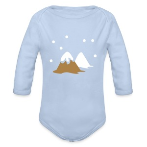 winter hill snow - Longsleeve Baby Bodysuit