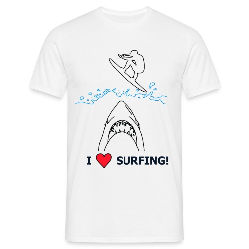 I Love Surfing! - Männer T-Shirt