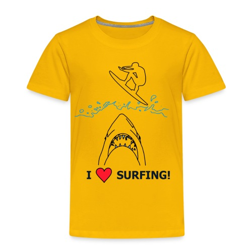I Love Surfing! - Kinder Premium T-Shirt