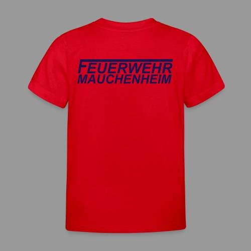 Kinder T-Shirt 98/104 bis 122/128 Schrift blau - Kinder T-Shirt