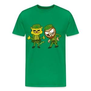 Leopardchaun and Leperchaun - Men's Premium T-Shirt
