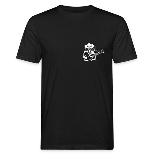 CatHill Bio-T-Shirt mit zwei Blueskatzen (schwarz) - Männer Bio-T-Shirt