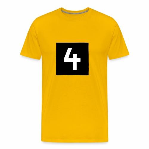 4-mantteli - Miesten premium t-paita