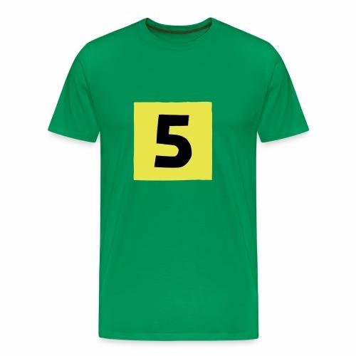 5-mantteli - Miesten premium t-paita