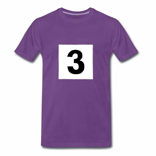 3-mantteli - Miesten premium t-paita